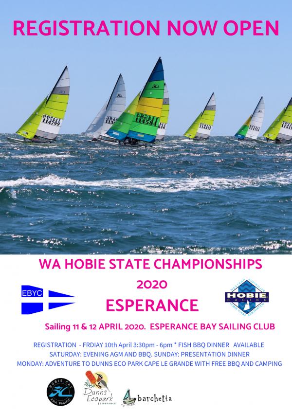 poster WA Hobie State Championships 2020 ESPERANCE